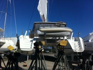 La Mischief Under Sail On the Hard