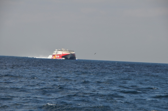 The Tangiers Ferry heading straight for us